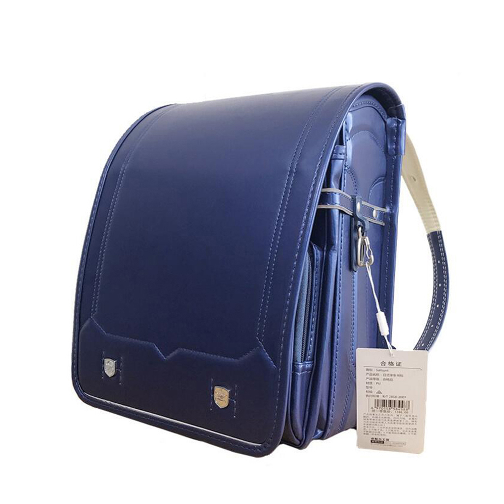 PU school bag Children backpacks Solid High Quality Brand Children's Bag Backpack For The Boy and grils schoolBag Japan Backpack