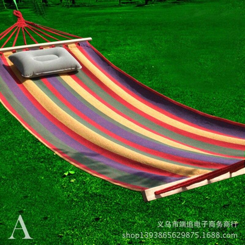 Colour Bar Inspissate Canvas Hammock Outdoors Single Bed Leisure Stick Send Bands Furniture