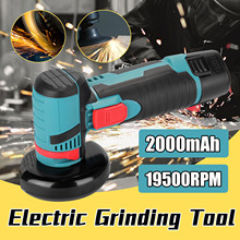 Angle-Grinder Lithium-Battery Cordless Car-Polisher-Machine Grinding-Cutting Wood Metal