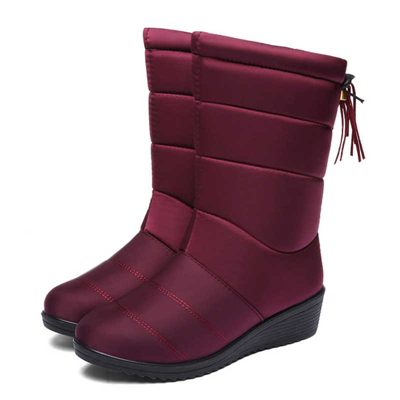 2019 femmes bottes gland femmes chaussures chaudes neige bottes femme hiver bottes dames chaussures Winte chaussons Botas Mujer grande taille 43