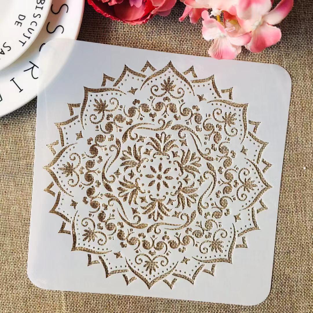 S M L Mandala Layered Geometry DIY Layering Stencils Painting Scrapbook Coloring Embossing Album Decorative Template