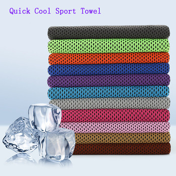 Cooling Towel Utility Enduring Microfiber Fabric Instant Cool Quick-Dry Reusable Chill Face Ice Towel image