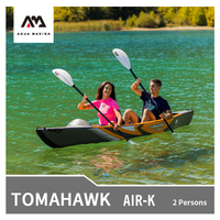 AQUA MARINA TOMAHAWK Air K 1/2 Persons Canoeing 440*78cm Inflatable Kayak High end Fishing inflatable Boat Sports Rowing Water