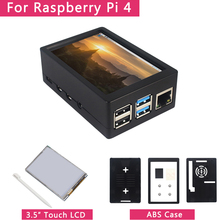 3.5 inch Raspberry Pi 4 Model B Touch Screen 50FPS 5 FPS 480*320 LCD Display + Dual Use ABS Case Box Shell for Raspberry Pi 4