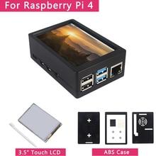 3,5 zoll Raspberry Pi 4 Modell B Touchscreen 50FPS 5 FPS 480*320 LCD Display + Dual Verwenden ABS Fall Box Shell für Raspberry Pi 4