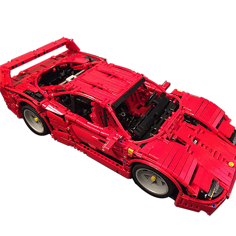 Sports Car Series Building Blocks Compatible MOC-3657 Ferrari F40 Technic Bricks Diy Toy Christmas Gift