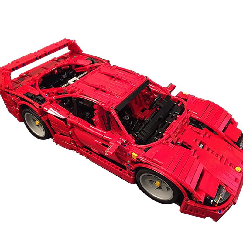 Sports Car Series Building Blocks Compatible MOC-3657 Ferrari F40 Technic Bricks Diy Toy Christmas Gift