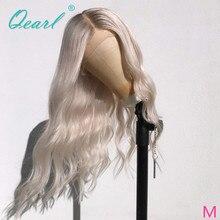 เต็มลูกไม้วิกผม Pre Plucked Baby Hair Body Wave วิกผมสีขาวสีบลอนด์ Ombre สีบราซิล Remy ผมกลาง Qearl