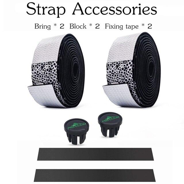 MOTSUV Road Bicycle Handlebar Tape Belt New Tetris design Cycling Handle Bar Tape Wrap Anti-slip Anti-sweat Strap +2 Bar Plugs 4