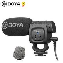 Boya BY BM3011 com microfone para câmera de canon, para smartphone sony nikon dslr, com conector 3.5mm, sapato frio, youtobe, vlog microfone