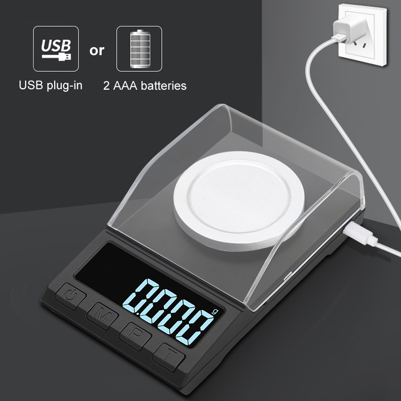 100g/50g/20g 0.001g Digital precision scale for Jewelry gold Herb Laboratory Balance Milligram Scale Electronic scale accurate