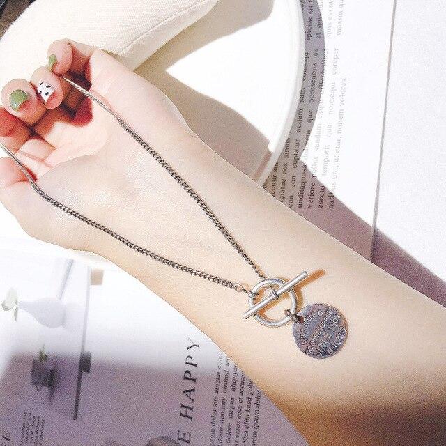 Leouerry 925 Серебряные винтажные ожерелья с подвесками в виде