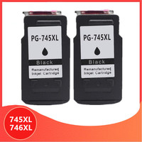 2Pk Black 745XL 746XL PG745 CL746 for canon ink cartridge PG 745 CL 746 XL for Pixma MG2470 MG2570 MG2970 IP2870 IP2872 Printer