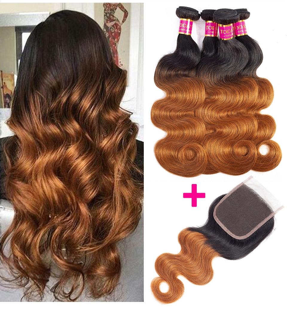 Hf85643c1305d4b5a91b605c06aed105ff TODAY ONLY Body Wave Bundles With Closure Brazilian Hair Weave Bundles With Closure Remy Ombre Bundles With Closure 3 Bundles