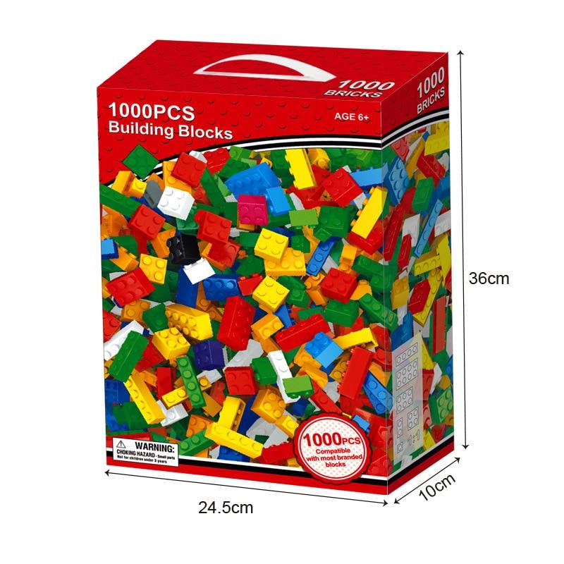 Image 4 - 1000 шт наборы строительных блоков для города DIY креативные кирпичи LegoINGLs классические части для создания Brinquedos образовательные игрушки для детей-in Кубики для игр from Игрушки и хобби