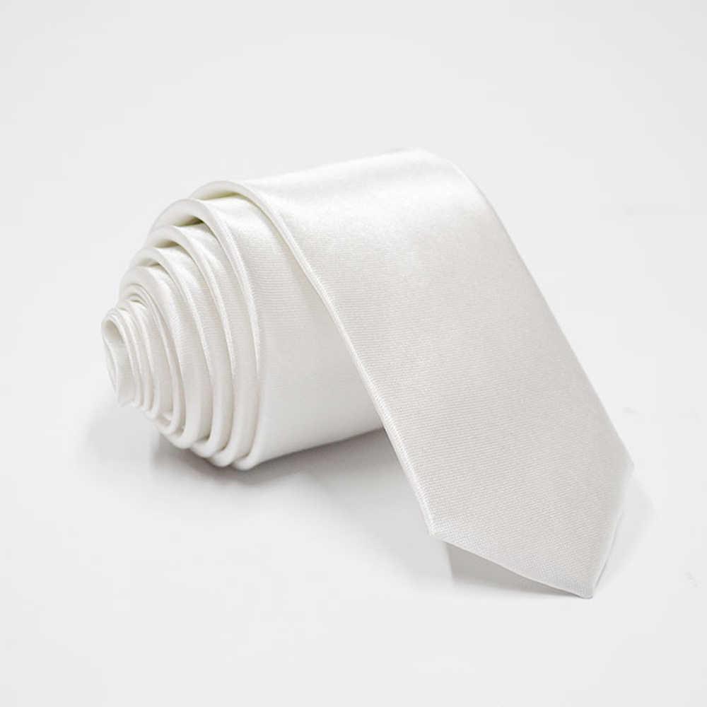 HUISHI krawat dla mężczyzn wąski krawat jednolity kolor krawat poliester wąski krawat 5cm szerokość 38 kolorów turkusowo-złota strona formalne krawaty moda