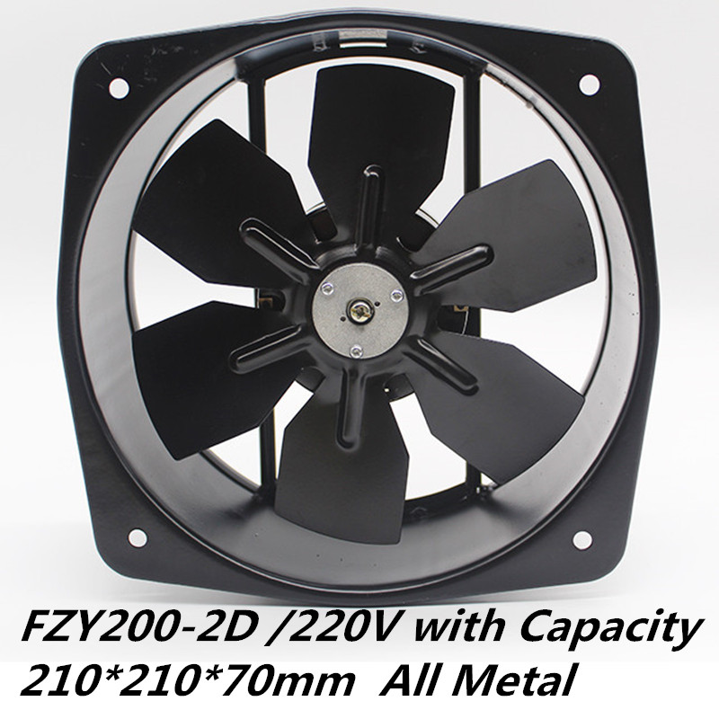 Metal Blade 200FZY2-D Cooling Fan 220V 65W 0.3A High Temperature Copper Motor All Metal Axial Fan
