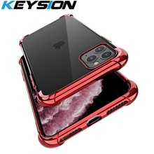 KEYSION Plating Air-bag Shockproof Phone Case For iPhone 11 Pro Max 2019 Soft TPU Back Cover iPhone11 New