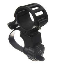 360 градусов Поворотный велосипед вспышка светильник фонарь Крепление светодиодный фонарь переднего светильник держатель зажим резиновые для Диаметр 20-45 мм