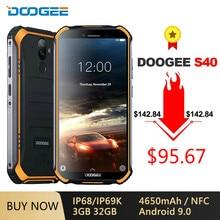DOOGEE S40 IP68/IP69K 4G Robuste Handy Android 9,0 5.5 ''18:9 Display 4650mAh MT6739 Quad core 3GB 32GB NFC Gesicht ID Telefon