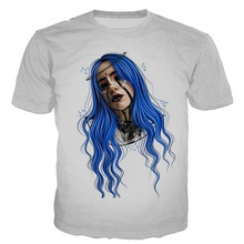 Billie Eilish Mens Summer Desinger Tshirts Plus Size Homme Clothing Male Womens Short Sleeve Crew Neck