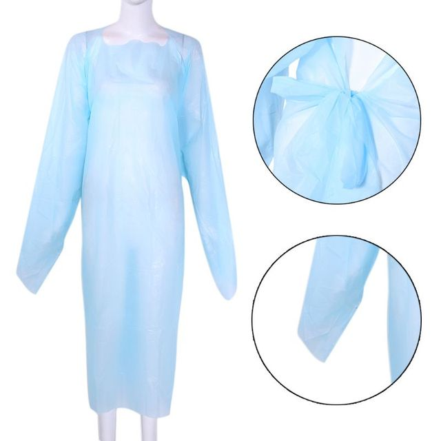 Disposable Clothing Waterproof Gown Anti-contact Raincoat Rainproof PPE protective suit Anti-Viruses Protective Suit Unisex 2