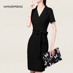 Image 3 - Gelegenheid Jurken 2020 Vrouwen Office Wear Zomer Jurk Formele Slijtage Voor Vrouwen V hals Elegant Robe Werk Jurk Vestidos