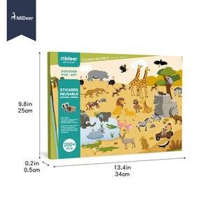 Image 4 - MiDeer חדש לשימוש חוזר מדבקות ספר משחק Pad אוסף צעצועים חינוכיים לילדים פאזל מתנה נשלף רקע סצנות