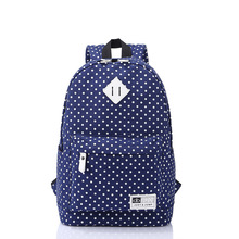 2019 New Children Canvas School Bags Kids Backpack Set Fashion Orthopedic Schoolbag Dot