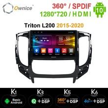 Ownice k3 k5 k6 Android 10.0 araba radyo Dvd OYNATICI Mitsubishi Triton için L200 2015 2016 2017 2018 2020 araba radyo GPS Navi 8 çekirdekli