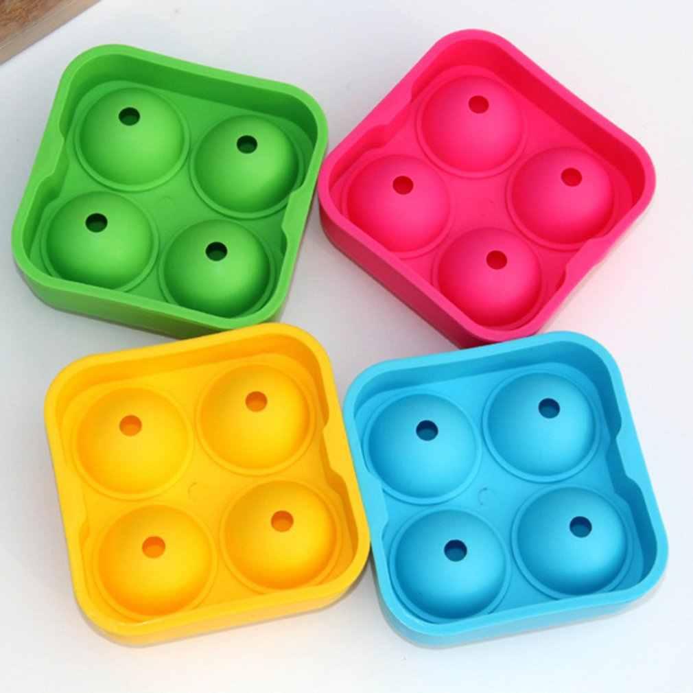 アイスホッケー型バー 4 穴アイスホッケー型球状アイスカップ小グリッド型ラウンド