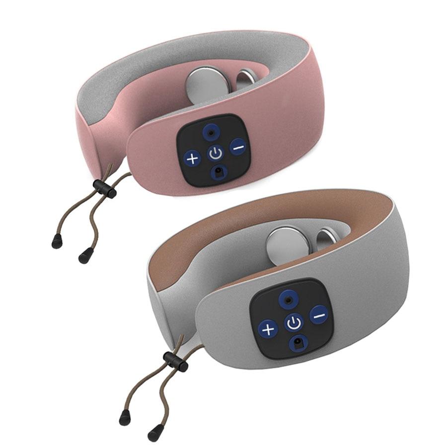Masseur électrique de cou d'impulsion Instrument de thérapie de vertèbre cervicale Acupuncture thérapie magnétique oreiller de cou masseur soins de santé
