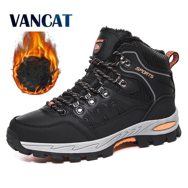 Зимние ботинки унисекс, теплые плюшевые мужские ботинки, водонепроницаемые Нескользящие зимние ботинки, уличные мужские походные ботинки, Рабочая обувь, мужские кроссовки 36 46|Зимние сапоги| | АлиЭкспресс