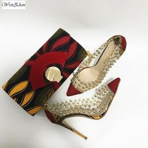 Image 3 - Женские туфли на высоком каблуке WENZHAN, туфли из ткани с принтом из натурального воска в Анкаре, 6 размеров, модная дамская сумочка, 911 29