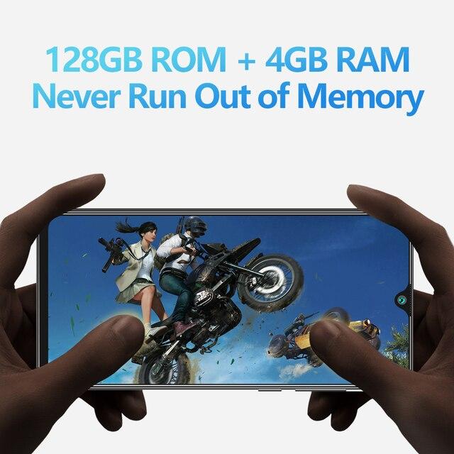 Cubot P40 Rear Quad Camera 20MP Selfie Smartphone NFC 4GB+128GB 6.2 Inch 4200mAh Android 10 Dual SIM Card mobile phone 4G LTE 4