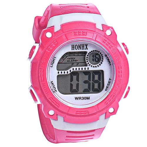 Fashion Children Watch Silicone Strap Digital Week Alarm Stopwatch Date Students Watches Kids Jelly Color Sports Wrist Watch