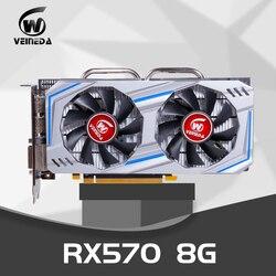 بطاقة الفيديو RX 570 8gb 256Bit GDDR5 rx 570 PCI Express 3.0x16 DP HDMI DVI جاهزة لألعاب AMD بطاقة جرافيكس geforce