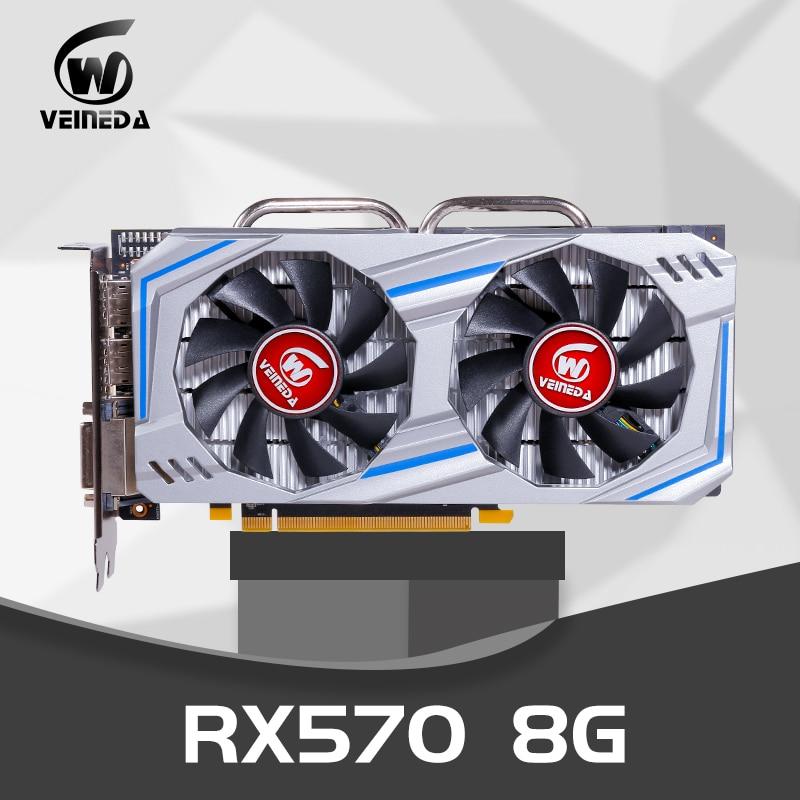 Video Card RX 570  8gb 256Bit GDDR5 Rx 570 PCI Express 3.0 X16 DP HDMI DVI Ready For AMD Graphics Card Geforce Games