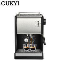 CUKYI 3 In 1 Handle Semi automatic Capsule Coffee Machine Espresso Cappuccino Coffee Maker High Pressure Steam 15 Bar 1.5L 220V