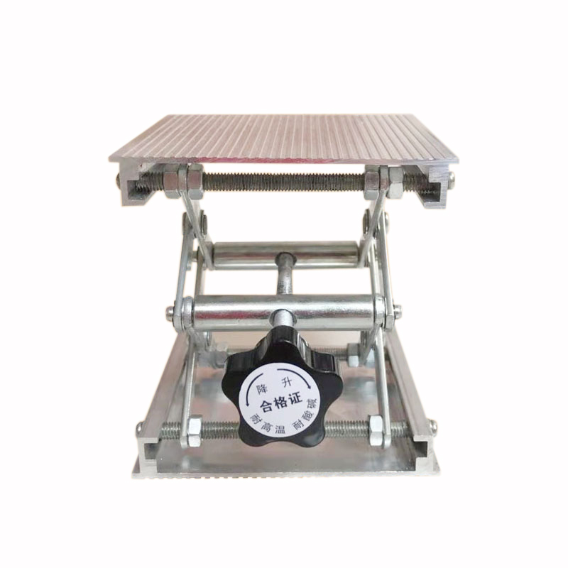 Image 3 - 100x100mm Stainless Steel Adjustable Drill Lift Laboratory Lifting Platform Router Lift Table Woodworking Lab Lifting Stand RackHand Tool Sets   -