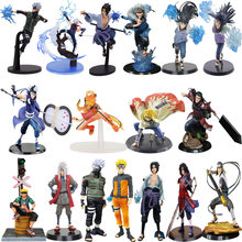 10-20 Cm Anime Cartoon Naruto Figuur Kakashi Obito Sasuke Minato Hinata Hashirama 20 Stijlen Pvc Action Model Collectible kid Speelgoed(China)