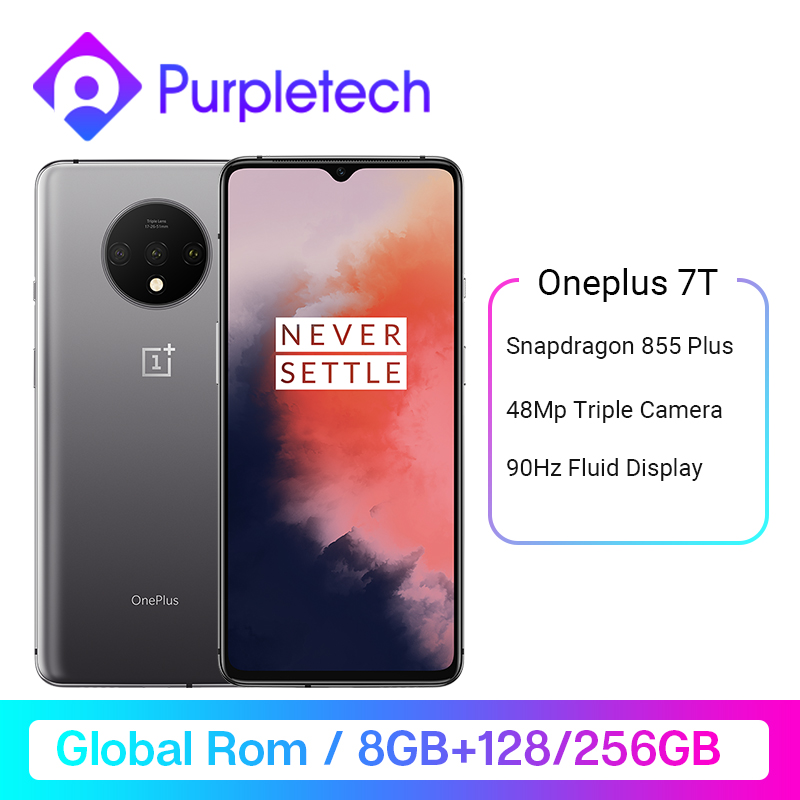 Global ROM OnePlus 7T Snapdragon 855 Plus 6.55'' AMOLED Screen 90Hz Fluid Display 48MP Triple Cameras UFS 3.0 NFC Smartphone