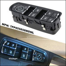цена на Wooeight ABS Black Electric Master Front Left Door Window Switch 7PP959858MDML fit for Porsche Macan Panamera Cayenne 2014 2015