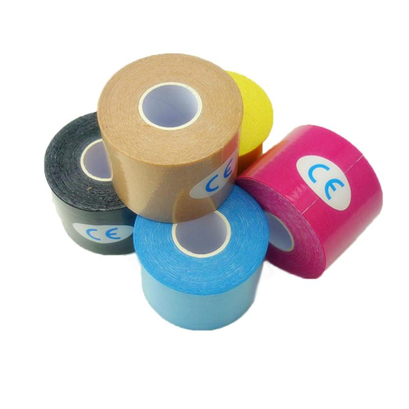 5M*2.5CM Colorful Sport Elastoplast Athletic Kinesiology Elastic Bandage Muscle Tape Finger Joints Wrap  Non Woven Cohesive