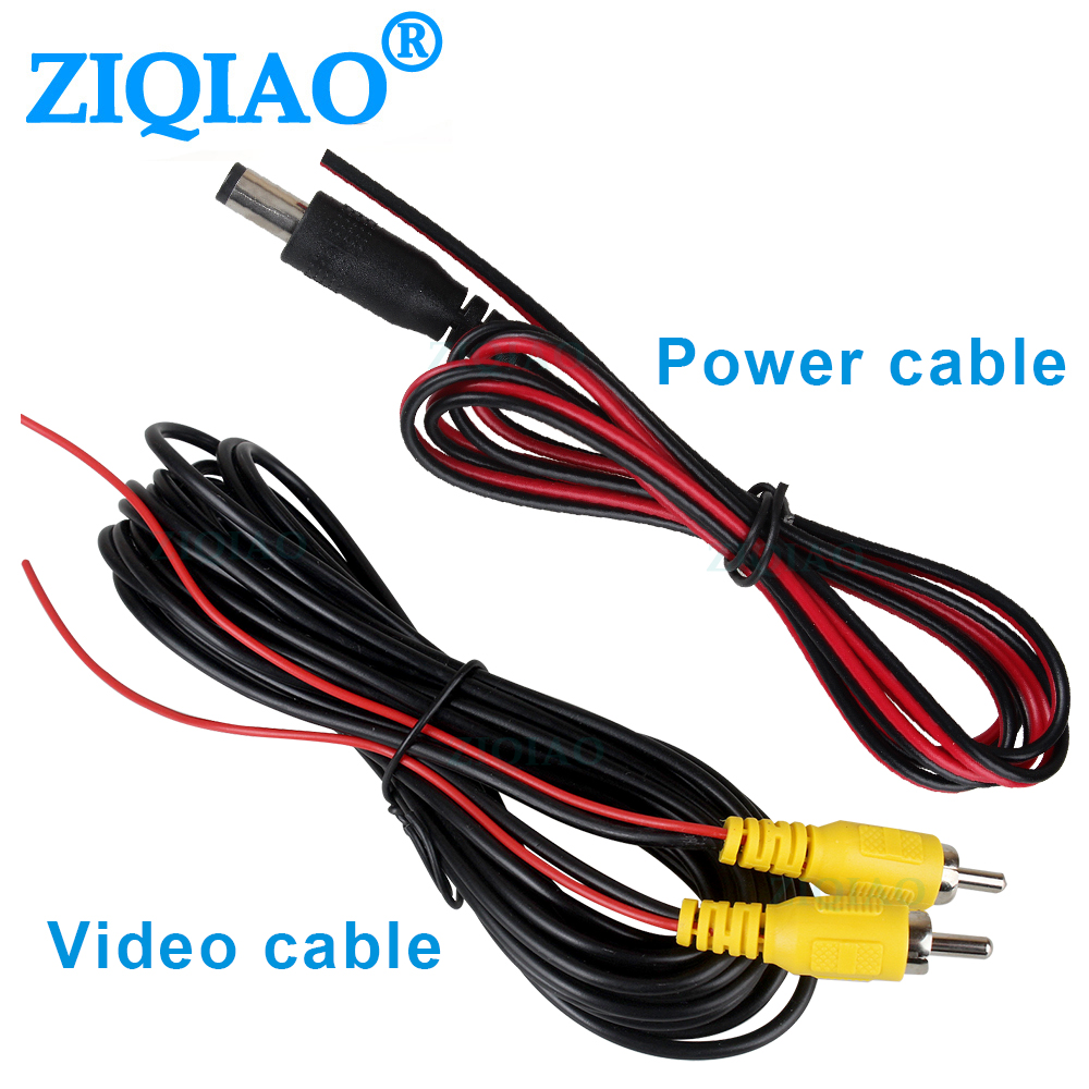 10M 15M Video Cable Power Cable For Car Rear View Parking Camera Video Extension Cable Cordwith Trigger Wire