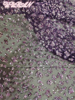 5 Yards/Lot Mesh Lace Fabric High Density Symphony Rose Gold Diamond Sequins Mesh Fabric for Dress Bronzed Fabric