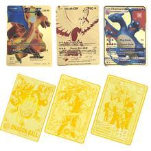 Горячая 6 шт./лот(1 золотой металл и 5 бумажных карт) Супер Dragon Ball Z японский ультра инстинкт Гоку игра Коллекция аниме-открытки