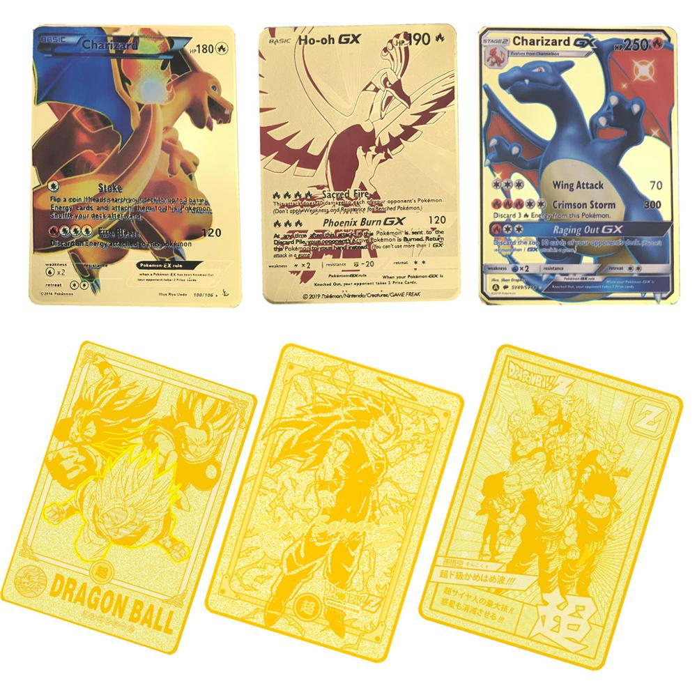 Hot Sale 6pcs/lot (1Gold Metal And 5 Paper Cards) Super Dragon Ball Z Japanese Ultra Instinct Goku Game Collection Anime Cards image