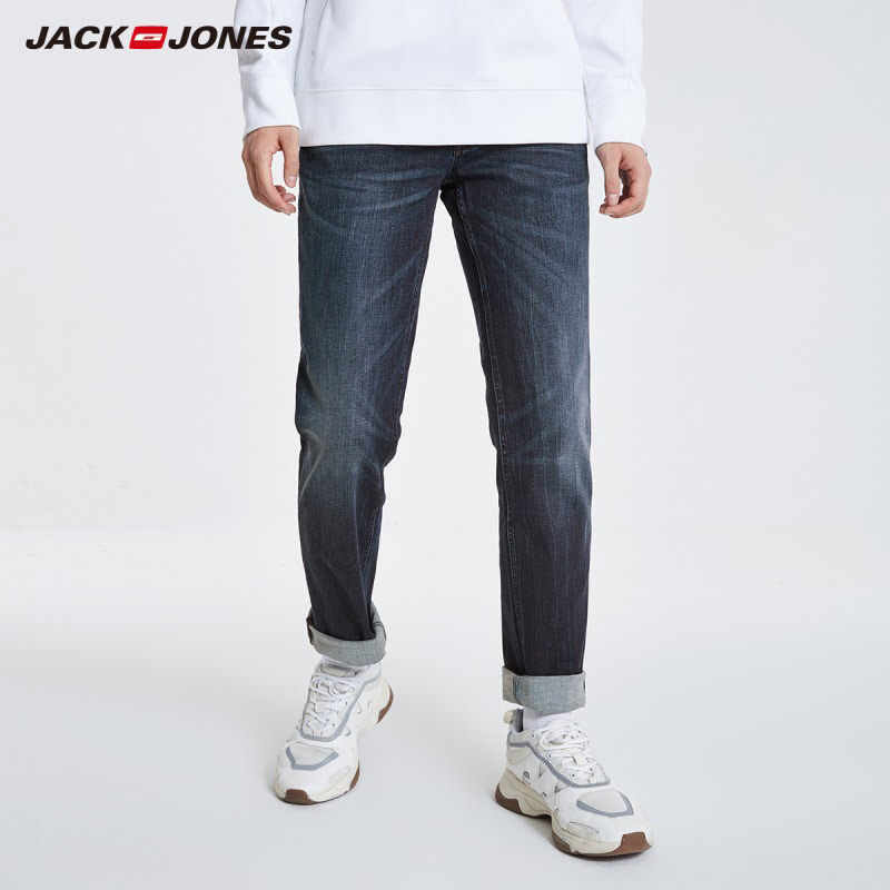 JackJones Men's Autumn&Winter Stretch Cotton Straight Fit Jeans Menswear 219132566