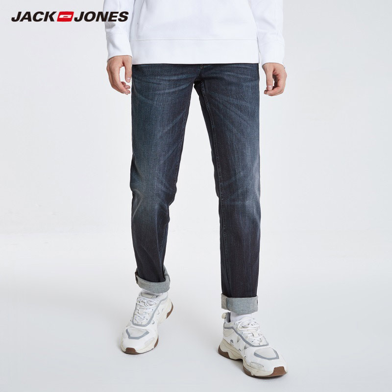 JackJones Men's Autumn&Winter Stretch Cotton Straight Fit   Jeans   Menswear 219132566